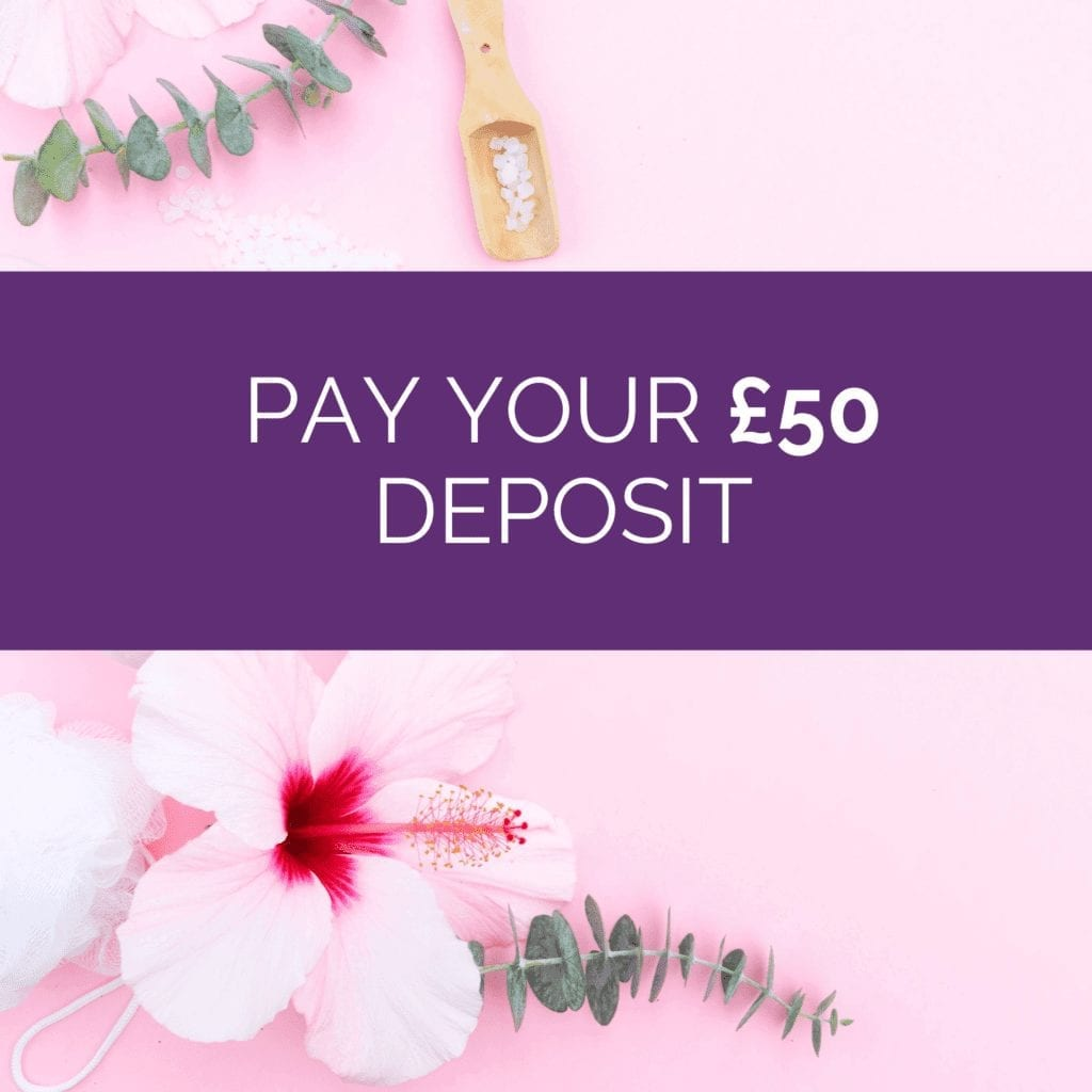 Pay a £50 deposit to secure your place on any course