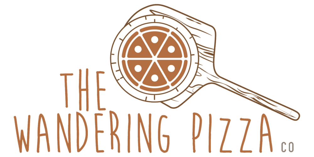 The wandering pizza logo